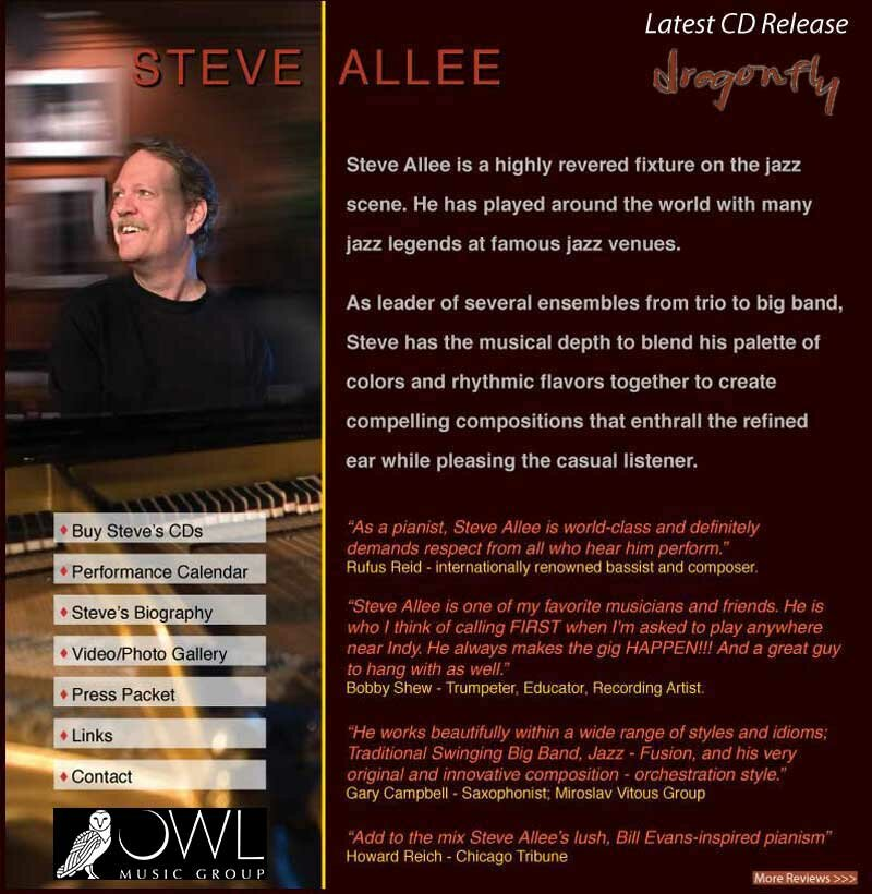 Steve Allee - Jazz piano, composer, arranger, producer